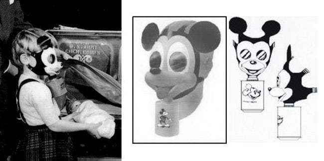 Mickey's face On A Gas Mask