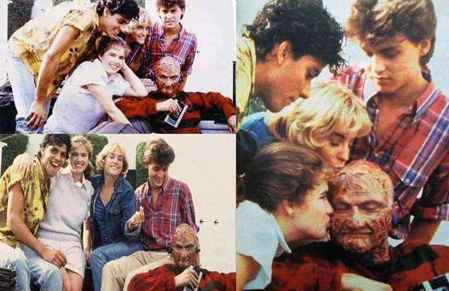 Freddy Kruger chilling with the kids