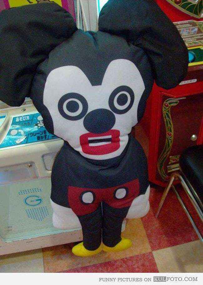 A Weird Inflatable Mickey Doll