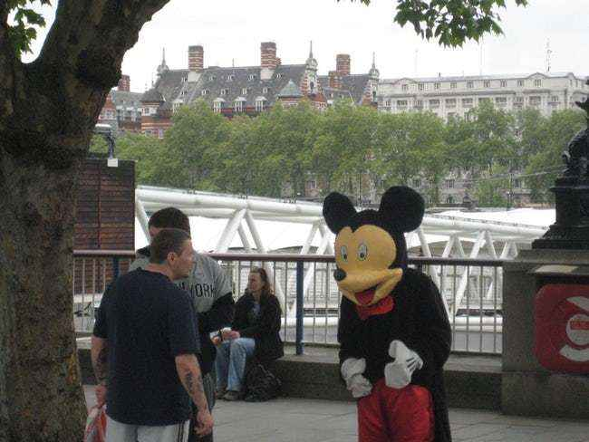 Mickey on the streets messing up
