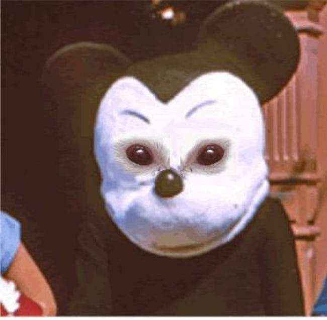Mickey with Mouse Eyes
