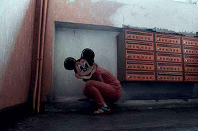 Mickey doing Squats