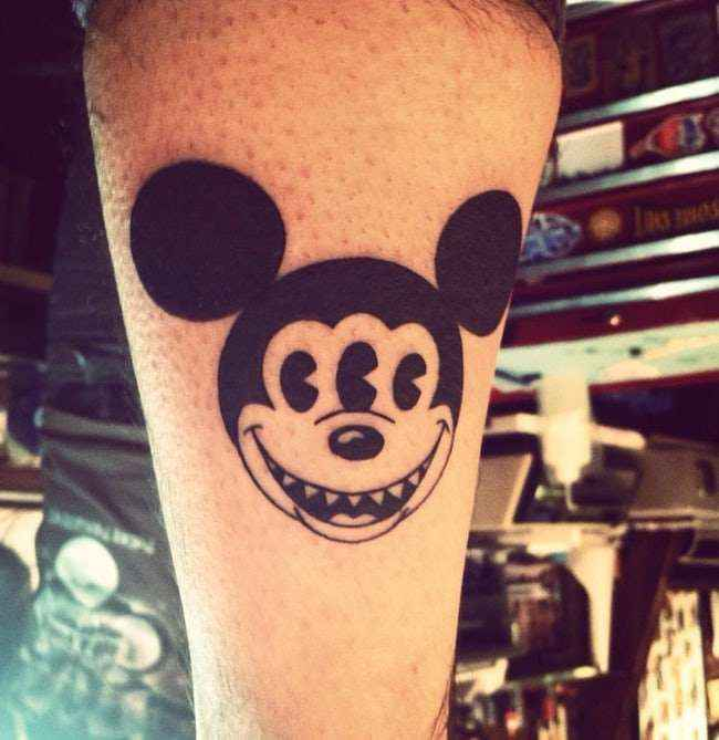 Mickey's tattoo