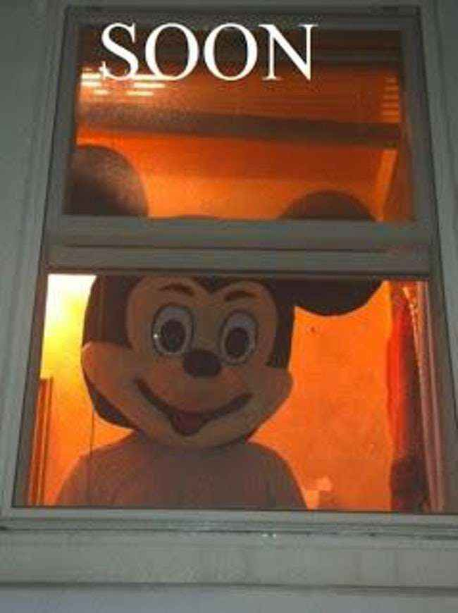 Weird Mickey Sneaking Out