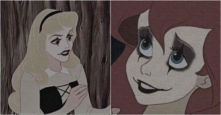 Disney Princesses Reimagined As The Crow