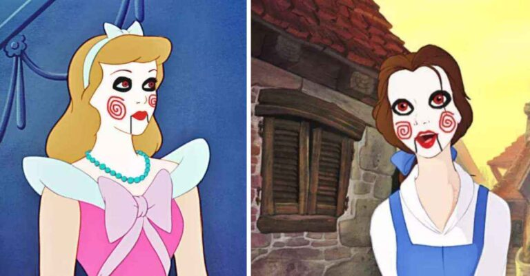 Disney Princesses Re-Imagined As The Dolls From Saw And It Might Be The Creepiest Thing You'll Ever See