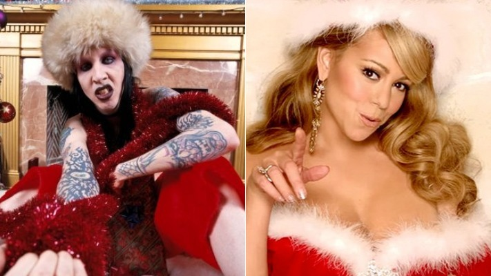 Marilyn Manson & Mariah Carey Christmas Mashup Is Perfect (Video)
