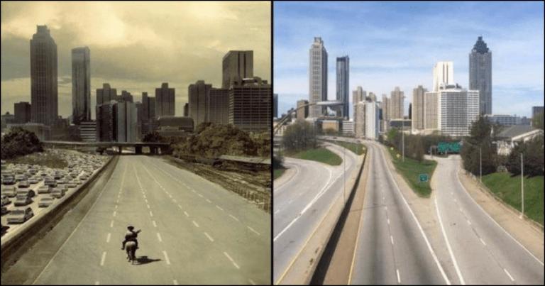 The Walking Dead Season 1 Poster Gets Terrifyingly Recreated On Empty Atlanta Highway