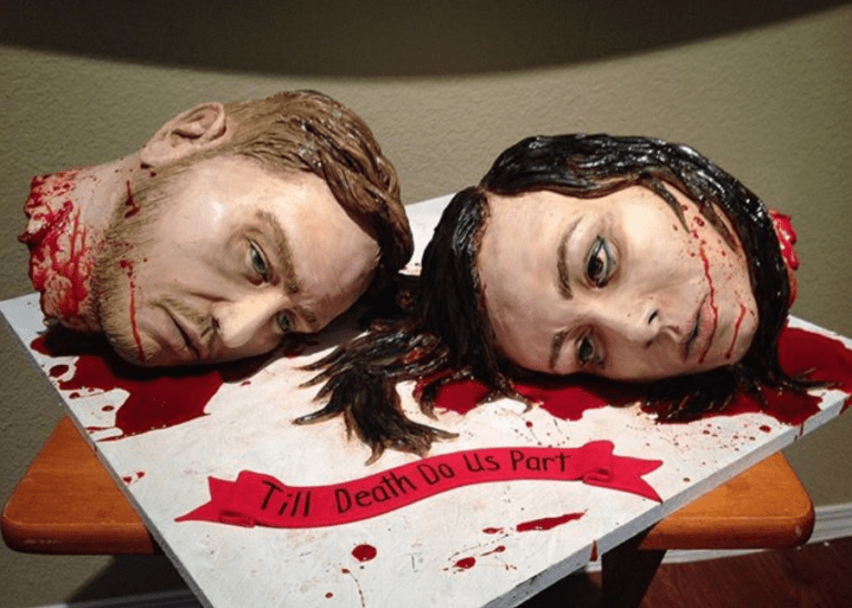 Newlyweds Terrorise Guests With Insane Severed Head Wedding Cake