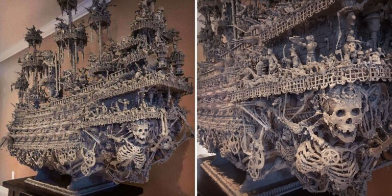 Artist Spends 14 Months Building Terrifyingly Detailed Ghost Ship.
