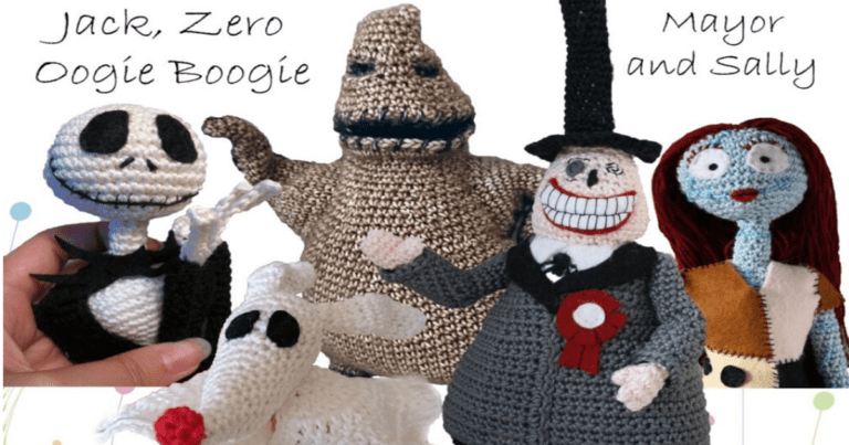 Making this 'Nightmare Before Christmas' crochet dolls can be your new hobby