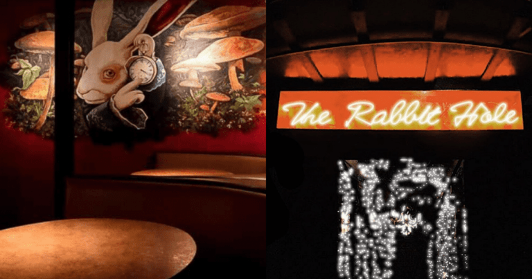 This dreamy 'Alice in Wonderland'-themed resto-bar is perfect for Tim Burton fans