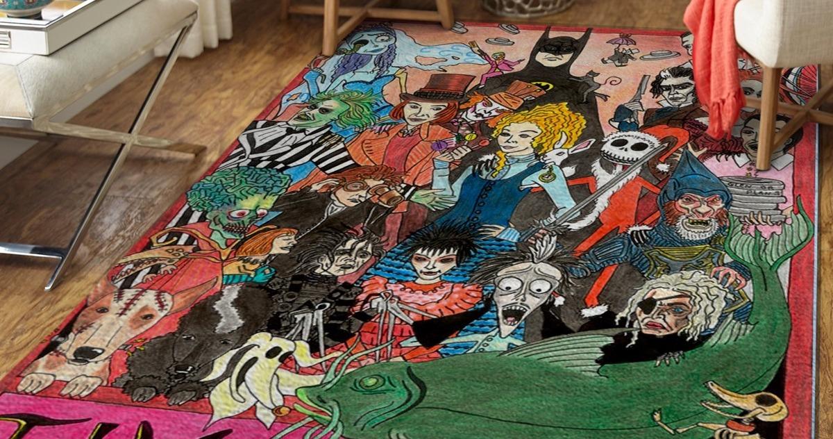 Tim Burton Character Rug