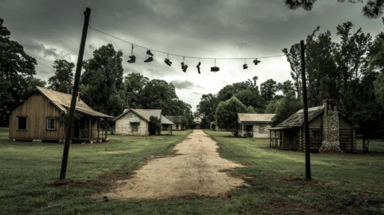 Creepy tour around Jackson Lake Island reveals Tim Burton's abandoned 'Big Fish' movie set