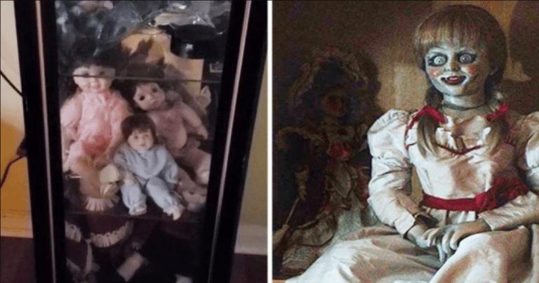 Watch As Man Films Creepy Dolls Moving Inside Glass Cabinet, Then Runs