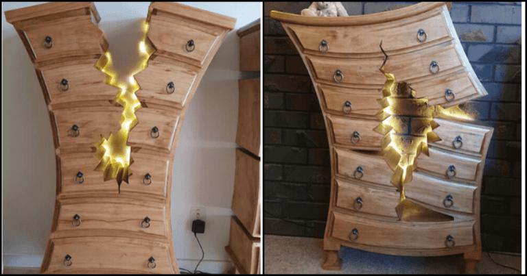 Woodworker Creates Outstanding Tim Burton-esque Furniture