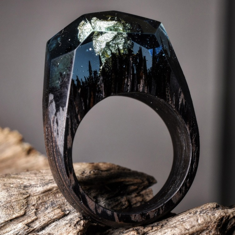 Wood and Resin Rings