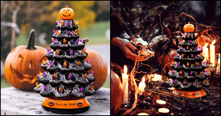 Check Out These Mini Halloween Trees Perfect For Your Dark Decorations