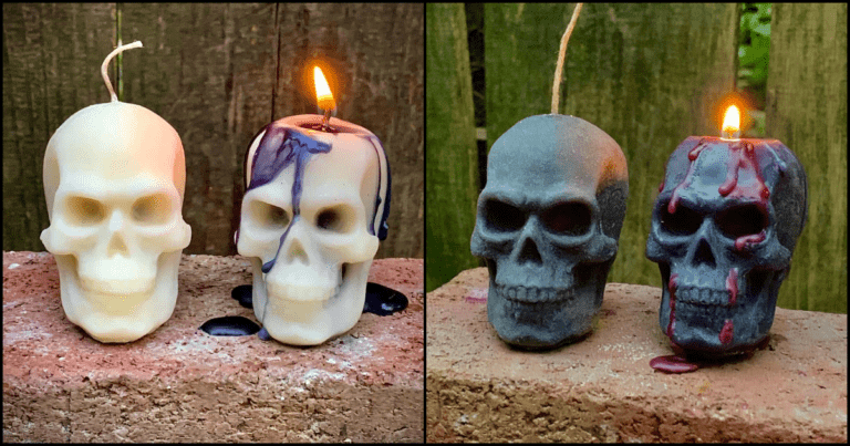 These 'Bleeding' Skull Candles Are The Ideal Halloween Decoration