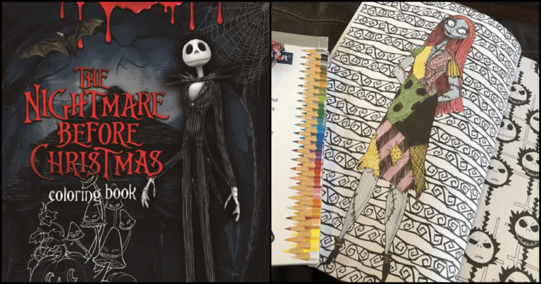 This Nightmare Before Christmas Coloring Book Is Exactly What You Need