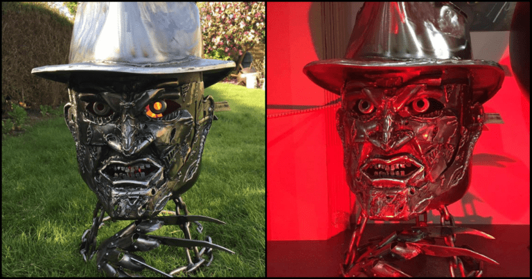 You Can Get Yourself A Creepy Freddy Krueger Fire Pit This Halloween