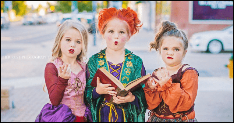 These Adorably Haunting Sisters Dressed Up As Hocus Pocus Witches