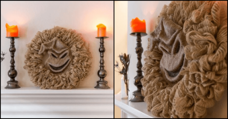 You Can Now Get This Terrifyingly Unique Oogie Boogie Wreath