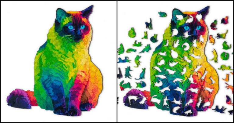 Check Out This 224-Piece Jigsaw With 43 Separate Cat Shaped Pieces