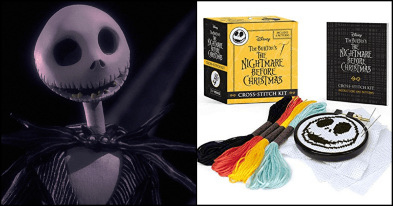You Can Get A Jack Skellington Cross-Stitch Kit Perfect For Halloween