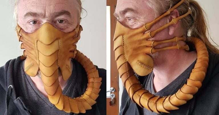 Hand-Stitched Leather Alien Facehugger Masks Have Been Released