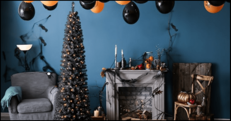 Check Out These Spooky Pre-Lit Black Halloween Trees