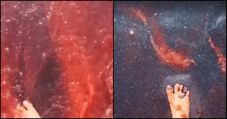 Red Beach: An Island Filled With Crimson 'Blood' Water And Galaxy Sand