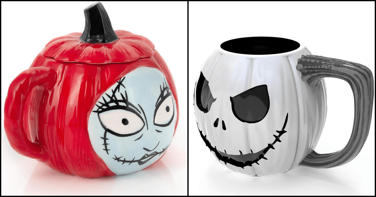 Jack Skellington and Sally Mugs