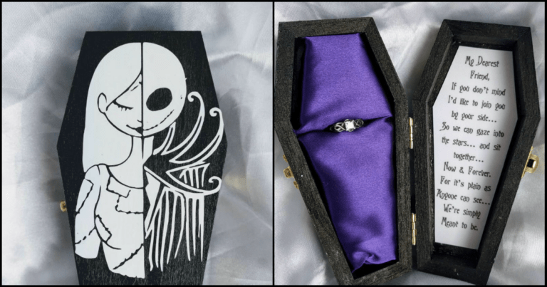 Pop The Question With This Nightmare Before Christmas Coffin Ring Box