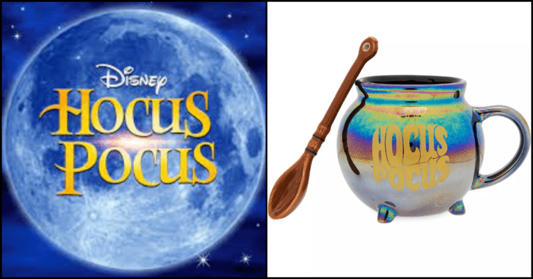 This Disney Hocus Pocus Mug Comes With A Broomstick Spoon